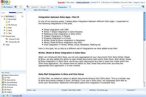 zoho mail integration between zoho apps part ii 171 zoho