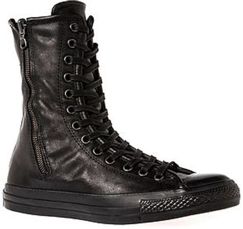 converse the chuck all leather boot in black
