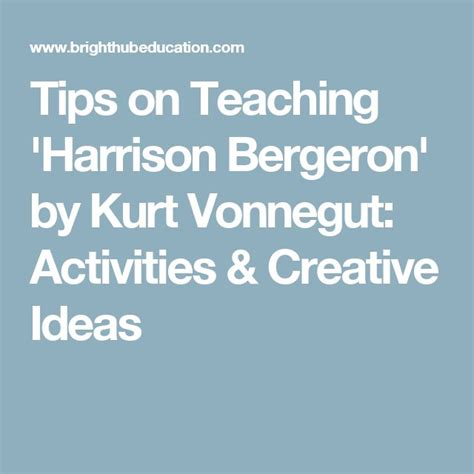 themes of the story harrison bergeron 11 best harrison bergeron images on pinterest dating