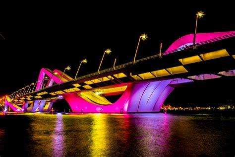 glowing  sheikh zayed bridge abu dhabi  raees uzhunnan