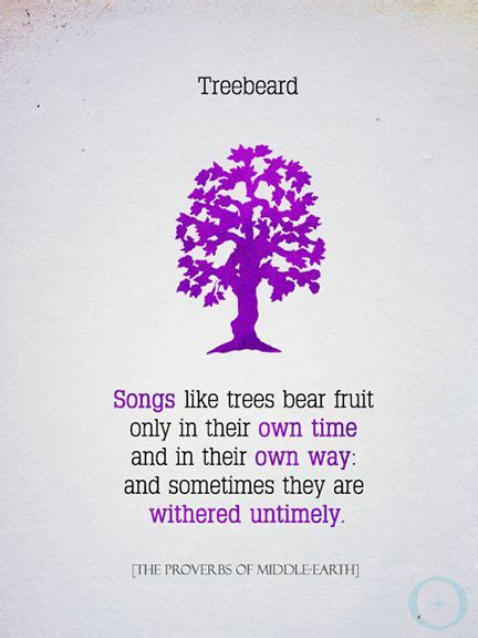 The Proverbs Of Middle Earth treebeard proverbs of middle earth tolkien lotr