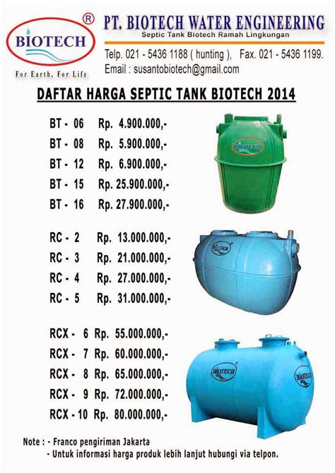 Septic Tank Biotech pt biotech water engineering jual produk septic tank
