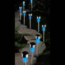 blue solar lights outdoor 10 blue solar lights mini post stainless steel led garden