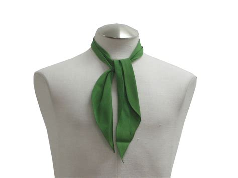 1950 s scarf 50s no label mens green rayon twill