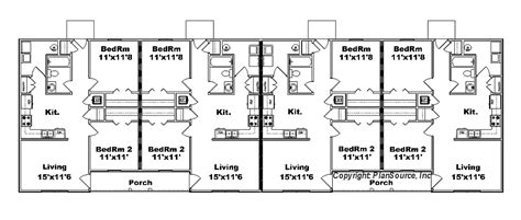 4 plex apartment plans 4 plex apartment plan j778 4b plansource inc