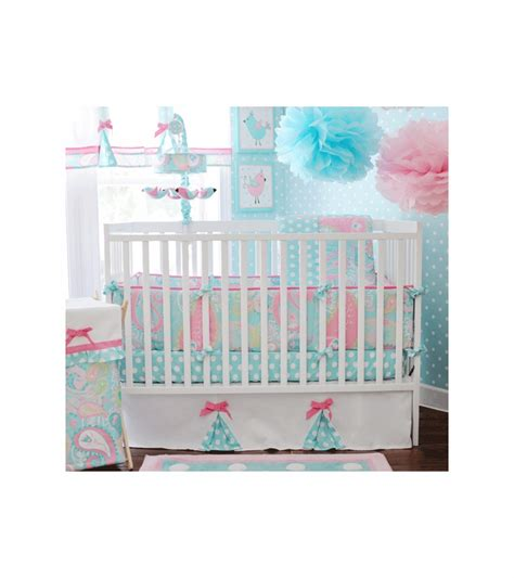 My Baby Sam Pixie Baby Aqua 3 Piece Crib Bedding Set My Baby Sam Crib Bedding