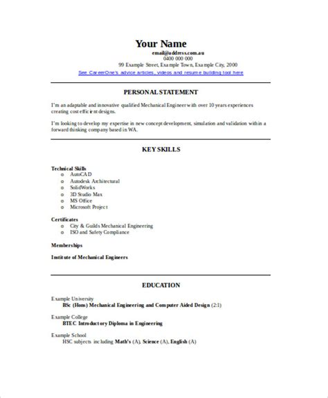 experienced resume template experienced resume format template 16 free word pdf