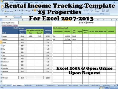 rental property spreadsheet template tenant payment record rental payment record template 25