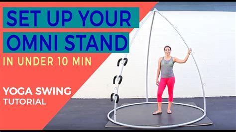 yoga swing tutorial omni yoga stand sport fatare