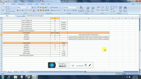 Test Automation Estimation For Uft Framework Customization Youtube Selenium Automation Estimation Template