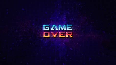 wallpaper computer com wallpaper game over hd creative graphics 8969