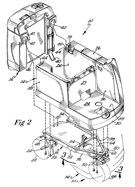 rug doctor parts diagram patent us6442789 floor scrubber patents