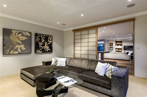 japanese inspired living room japanese inspired perth residence provides serenity draped
