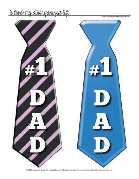 printable fathers day ties s day tie printable top gifts or make a banner