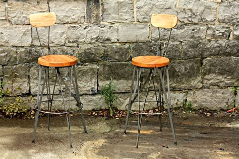 parisian cafe bar stools buy handmade parisian cafe styled reclaimed wood and metal