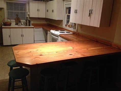 pine countertops kitchen