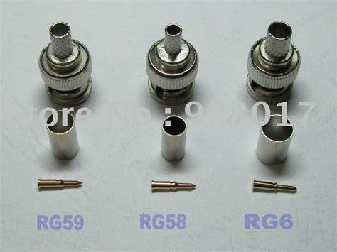Konektor Nmale Rg 58 3 bnc crimp connector rg58 or rg59 rg6 10 pcs
