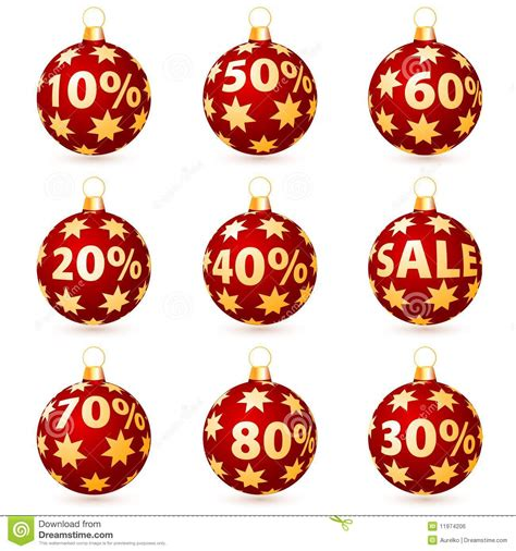 sale christmas balls royalty free stock image image