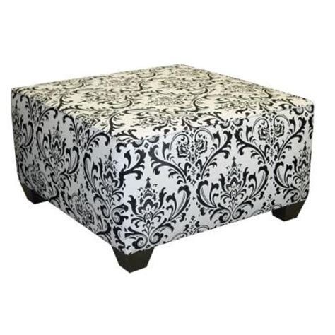 black and white ottoman home decorators collection traditions damask square
