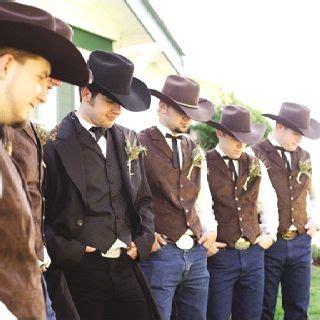 Wedding Western Attire by Cowboy Wedding Western Wedding Wear Groomsmen In