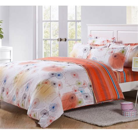 hot sell pcs bedding sets cheap comforter set queen twin size bed sheet floral dandelion