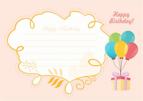 happy birthday card template free editable and printable birthday card templates