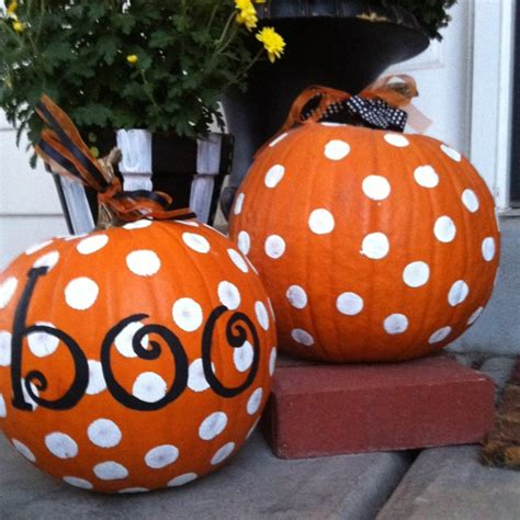 easy pumpkin decoration halloween pinterest