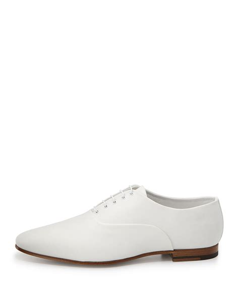 white oxford shoes lyst laurent lulu canvas oxford shoe white in