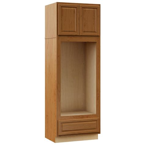 medium oak kitchen cabinets hton bay hton assembled 33 x 96 x 24 in pantry