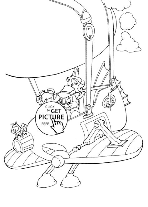 Chip And Dale Rescue Rangers Coloring Pages by сhip And Dale Rescue Coloring Pages For Printable Free