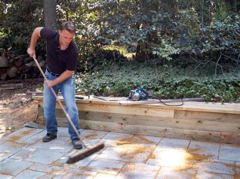 building a paver patio building a paver patio how tos diy