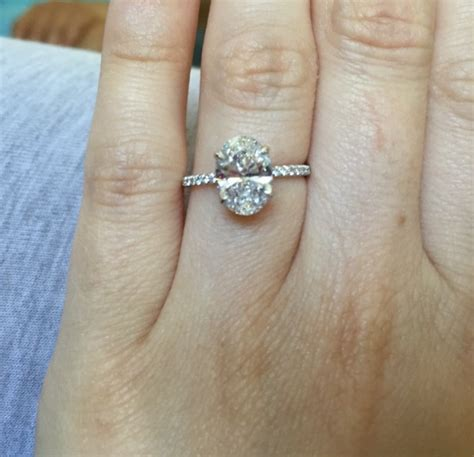 Wedding Bands For Oval Engagement Ring by Real Engagement Rings Oval Diamonds Weddingbee