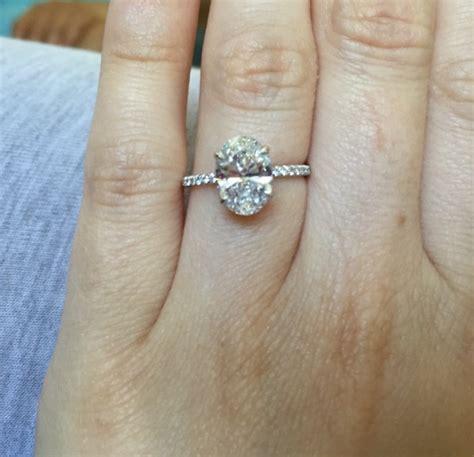 Real Engagement Rings: Oval Diamonds   Weddingbee