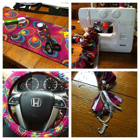 Harga Diy Steering Wheel Cover by Diy Steering Wheel Cover And Tassel For Rear View Mirror