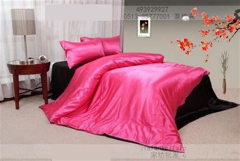 solid hot pink comforter hot pink black natural mulberry silk comforter bedding set