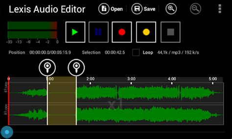 audio format editor lexis audio editor android apps on google play