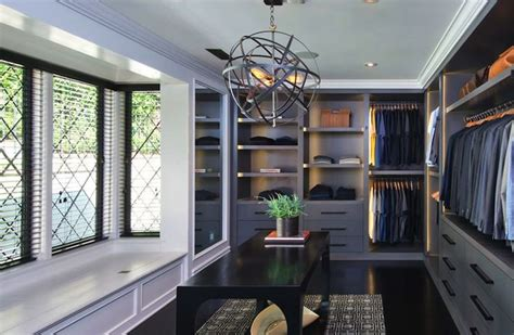 Fabulous Walk In Closets by Jeff Lewis Design Fabulous Walk In Closet With Wall