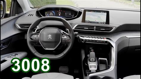 peugeot 3008 white 2017 2017 peugeot 3008 interior youtube