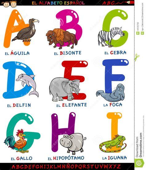 lettere alfabeto spagnolo alfabeto spagnolo fumetto con gli animali