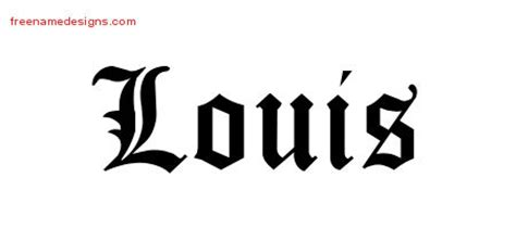 lewis name tattoo design louis archives free name designs