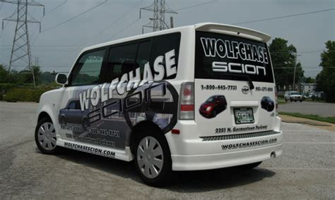 wolfchase scion a e sign shoppe vinyl lettering and vehicle graphics