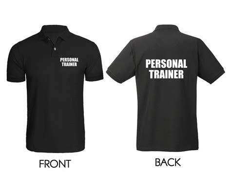 Printed Back Shirt printed black polo shirt personal trainer printed front