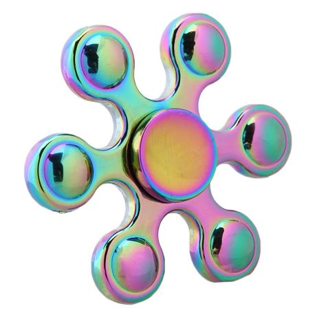 Fidget Spinner Rainbow 26 six corner circle rainbow fidget spinner figet toys