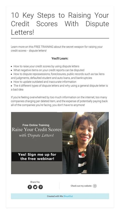 Sles Of Credit Repair Letters 10 key steps to raising your credit scores with dispute letters raising credit