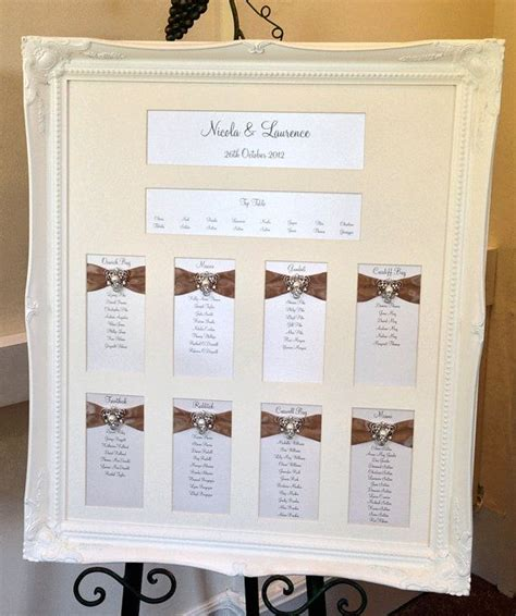 wedding seating plan picture frames mirror and frame wedding seating plans wedding seating