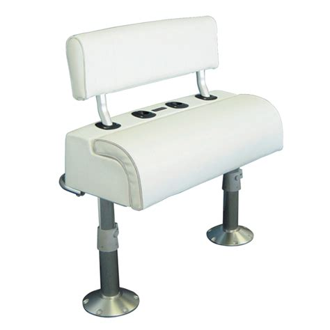 boat seats pedestal combo todd leaning post bench seat combo west marine