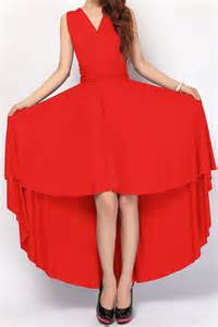 red high low bridesmaid dress infinity dress hl 06 49