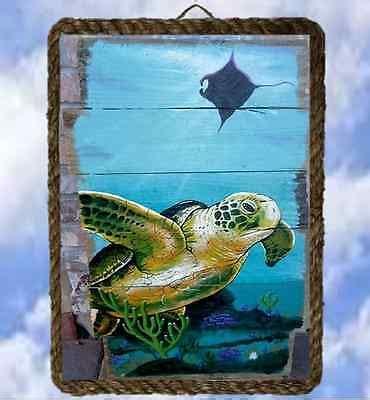 beach ocean wall sign  wall decor art prints sea turtle