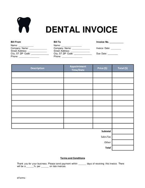 free printable dental invoice dental invoice template pdf hardhost info