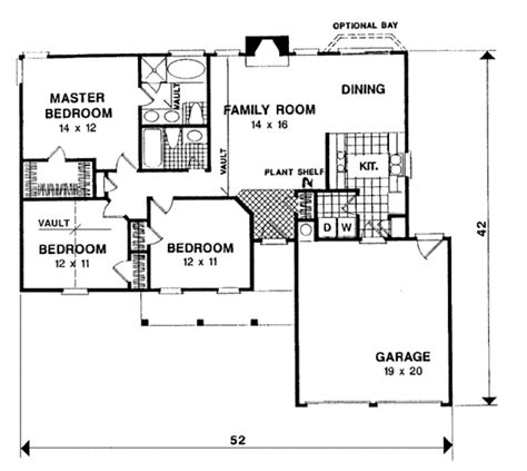 56 sq ft ranch style house plan 3 beds 2 baths 1197 sq ft plan